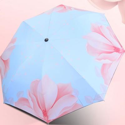 빅플라워 UV차단 암막 우산 양산