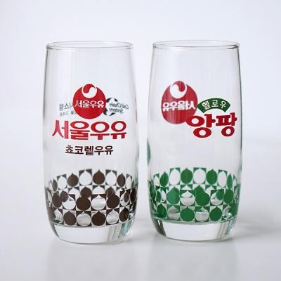 서울우유 홈카페 레트로 빈티지 유리컵 (아이스컵)