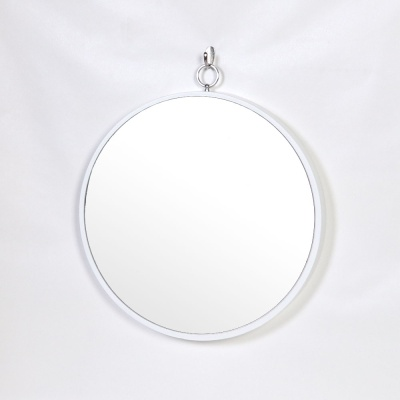 우드 카운티 링고리 원형 모던 벽거울 420-화이트