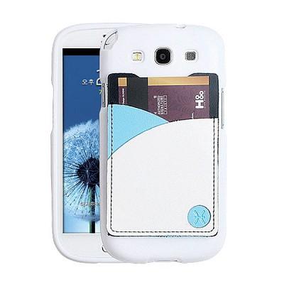 갤럭시S3용 England Leather 3Tones Cardcase 화이트 (3G/LTE 선택)