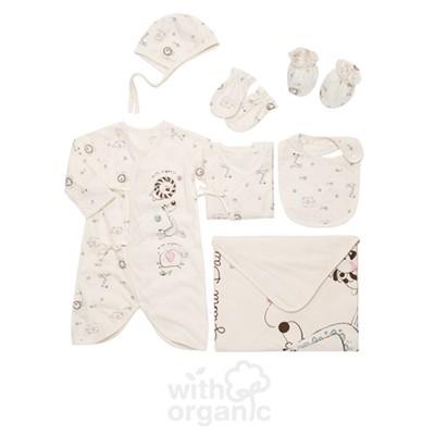 [위드오가닉] 오가닉 출산 신생아용품 7종세트_뉴동물