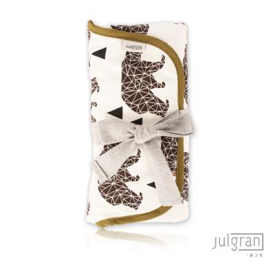JULGRAN 휴대용 기저귀매트 베어 아이보리