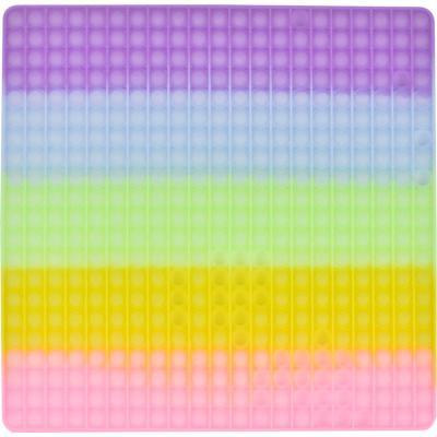 레인보우 푸쉬 팝 버블 - 40cm 사각 (야광)