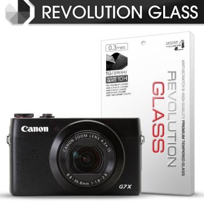 [프로텍트엠/PROTECTM] 레볼루션글라스 0.3T 강화유리필름 방탄액정보호 2장 디지털 카메라 똑딱이 CAMERA 캐논 CANON PowerShot G7 X