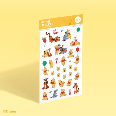 [디즈니] 포인트 스티커 - 곰돌이 푸 (no.1)