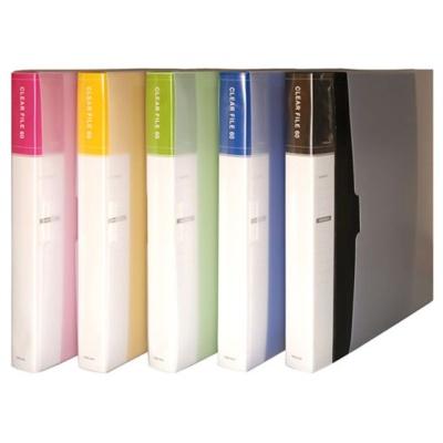 클리어 화일인덱스 A4 60매 노랑색 투명화일 바인더
