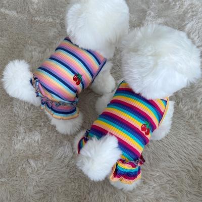 강아지 옷 반팔 치마 여름 애견용품 pe-5 체리