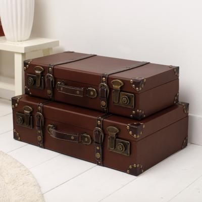 티크 가방 보관함 2Pset