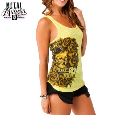 LADY LUCK TANK TOP (YELLOW)