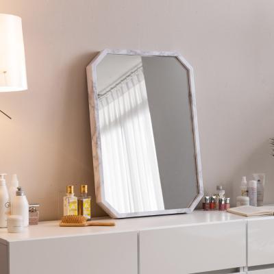 라샘 팔각 마블 스탠드 벽걸이 거울 벽거울 500x700