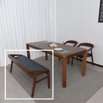 키츠 고무나무 원목 2인 식탁 벤치의자