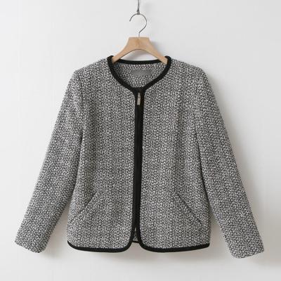 Tweed Wool Zipper Jacket