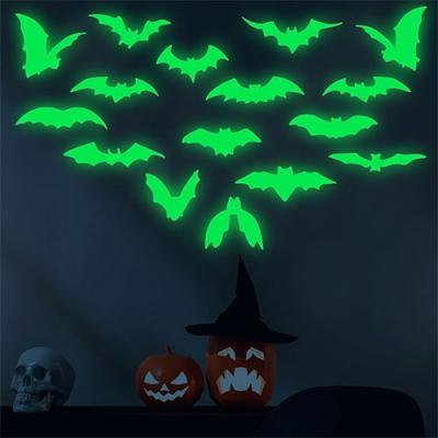 할로윈 박쥐 야광 스티커