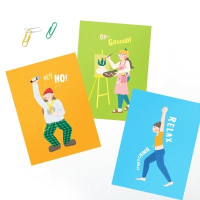 엽서카드 POSTCARD - 제이의 취미생활 (3종 택1)