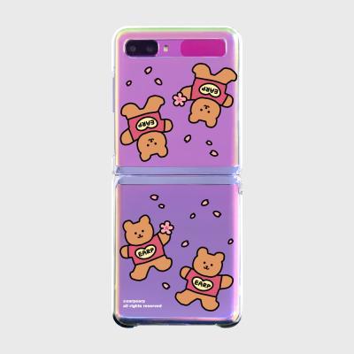 Blossom bear heart(Z플립-투명하드)