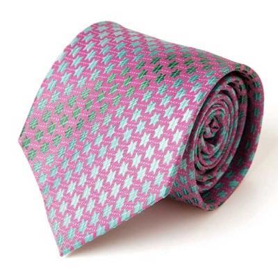 Hombre Pink estrella 패턴 수동 넥타이 CH1623683