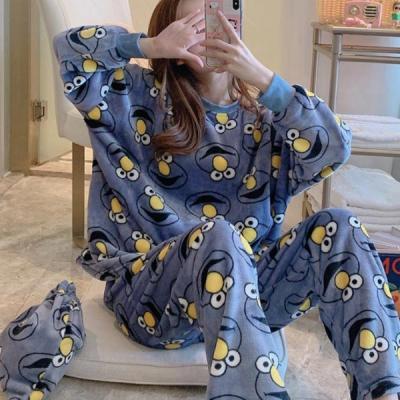 까불이 수면잠옷 여성겨울 극세사 수면 바지 잠옷세트