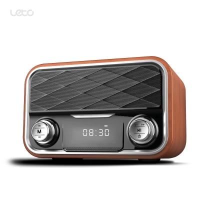 레트로 무선 블루투스스피커 LBT-W02 LED시계 라디오