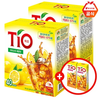 티오 아이스티 레몬40T 2개+3T 2개증정
