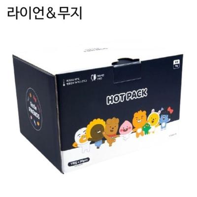 카카오 리틀프렌즈 핫팩 세트 20개입 라이언n무지