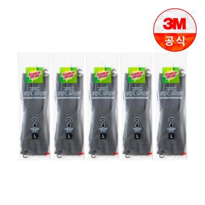 [3M]고리형 그레이 고무장갑 대 5개