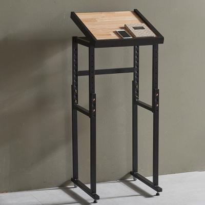 심플라인 철제 원목 테이블 440