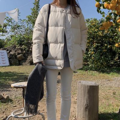 여성 가을 데일리 패딩 점퍼 자켓 베이직 텐피 누빔