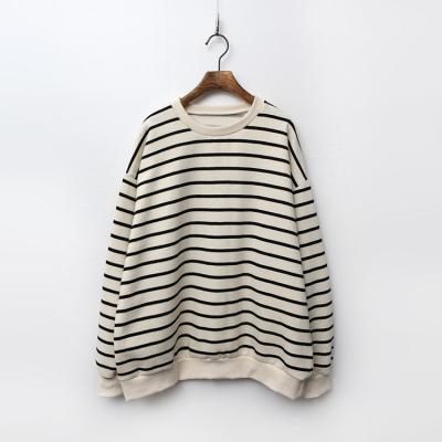 Gimo Stripe Sweatshirt - 기모안감