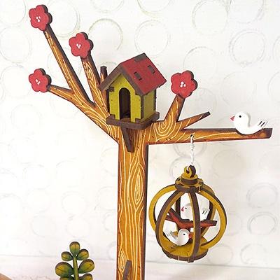 [바우하우스] 가게 시리즈 : 나무와 새장