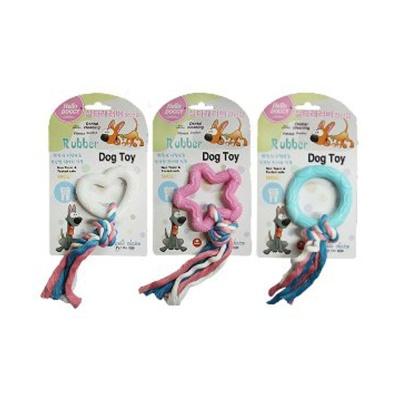 헬로도기 실타래 러버 장난감 (색상 모양랜덤)