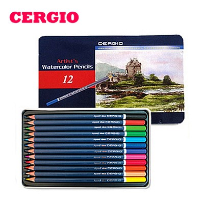 부드러운 세르지오 수채색연필  12색