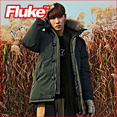 [플루크 패딩] 아라라트 리얼라쿤 헤비 야상 패딩 점퍼 카키 FPJ1506-KHAKI FLUKE 15FW