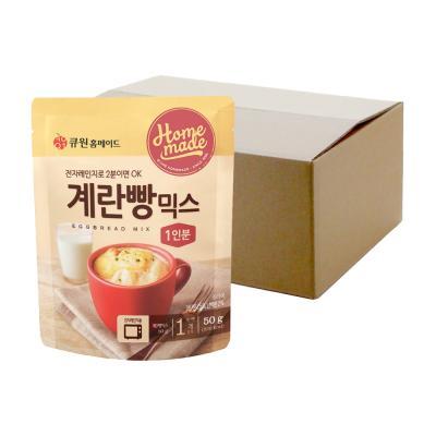 (박스특가/20개입) 큐원 계란빵믹스 (전자레인지용)