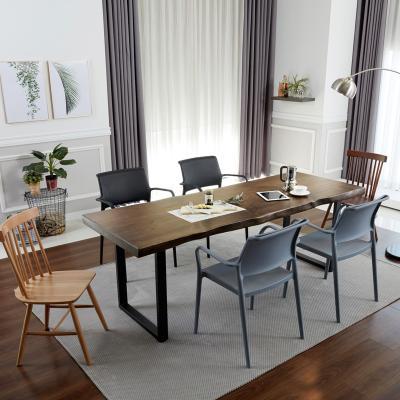 루스 우드슬랩 식탁 테이블 6인 1800
