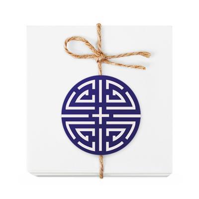 청색 전통 문양 라벨 (10개)