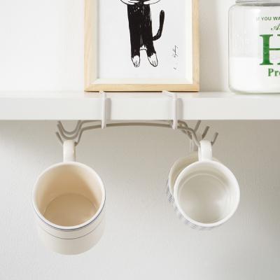 메탈텍스 타짜 선반밑 컵 홀더 크림