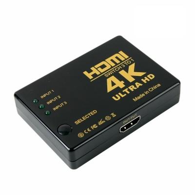 3×1 HDMI 선택기 스위치 / 4K UHD 고해상도 LCIB218