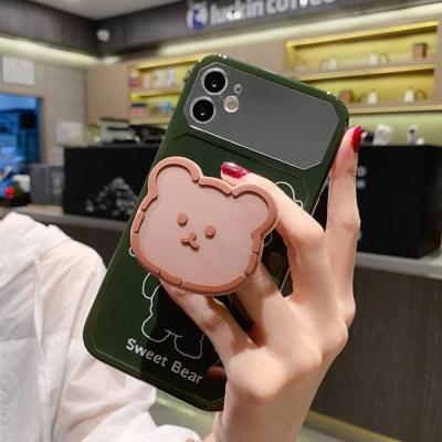 아이폰11 SE2 XR X 8 7 곰돌이 그립톡 미러 케이스