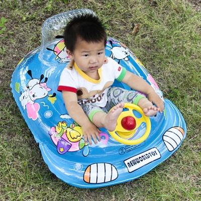 씽씽 블루 보행기 튜브 3∼5세 유아용 물놀이
