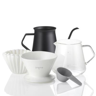 드립핑크 홈카페 커피 핸드드립 포트세트
