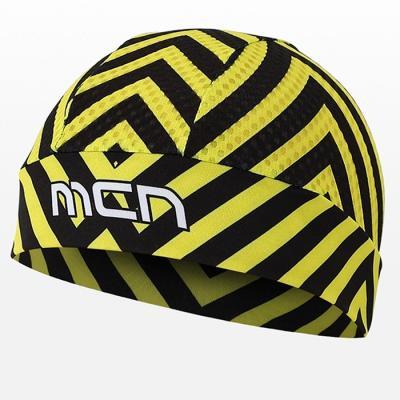 헬멧안에 착용하는 MESH SKULL CAP 옐로우 스트라이프