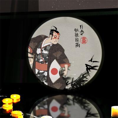 ne699-LED액자45R_일본전통사무라이