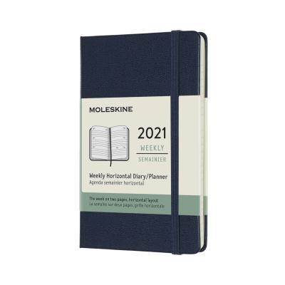 몰스킨 2021위클리(가로형)/사파이어블루 하드 P