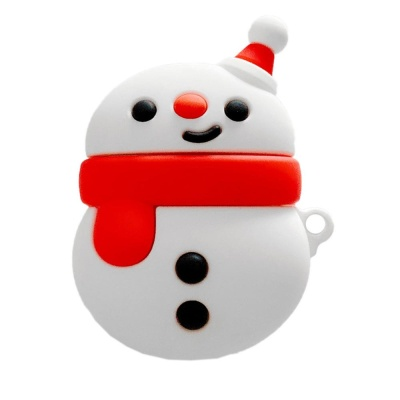 에어팟케이스 1/2 꼬마 눈사람 캐릭터 젤리 366 레드