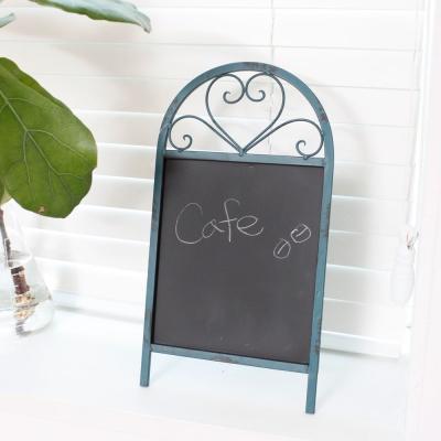 빈티지 블루 자딘 테이블 칠판