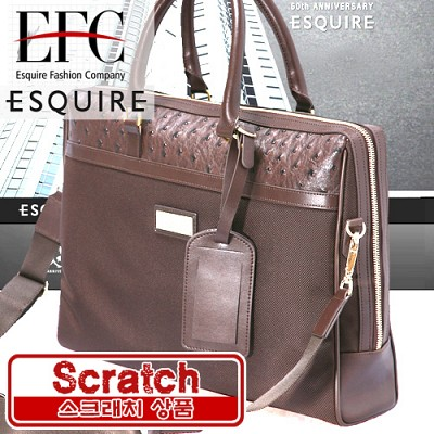 [스크래치] 에스콰이아 스퀘어 브라운 가죽 서류가방 A/S가능 정품브랜드