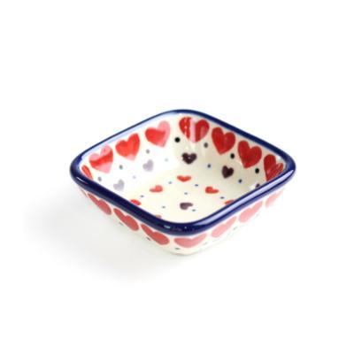 폴란드그릇 아티스티나 미니 사각 소스 종지 패턴2108