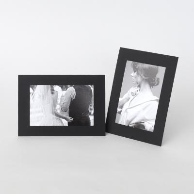 스탠딩 페이퍼프레임 - 4x6 블랙 10매 (종이액자)