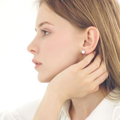 제이로렌 M03598 그레이 스와로브스키 실버 귀걸이