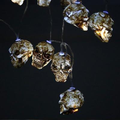 할로윈 해골 LED 조명 가랜드